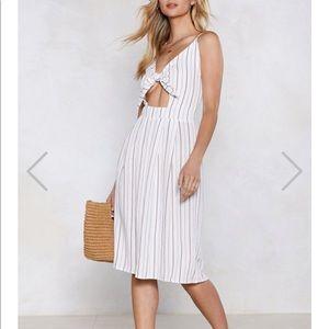 NASTYGAL - Clean Cut Midi Dress